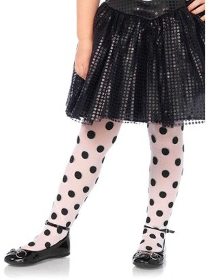 Leg Avenue Children's Polka Dot Tights, Small, Age 1-3