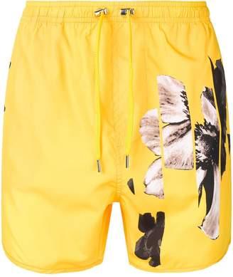 Neil Barrett floral beach shorts