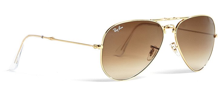 Ray-Ban 75th Anniversary Folding Aviator Metal Sunglasses
