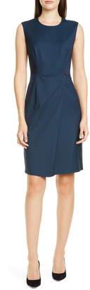 BOSS Dathea Minidessin Wool Sheath Dress