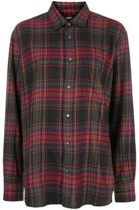 Aspesi tartan print buttoned shirt