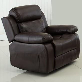 Gordon Motion Brown PU Leather Glider Reclining Chair