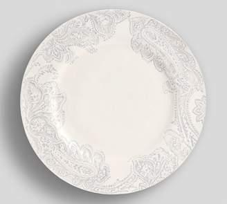 Pottery Barn Scarlett Paisley Dinner Plate