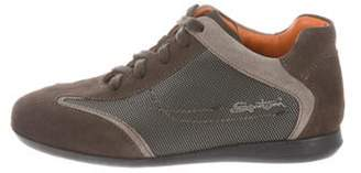 Santoni Boys' Suede Sneakers w/ Tags brown Boys' Suede Sneakers w/ Tags