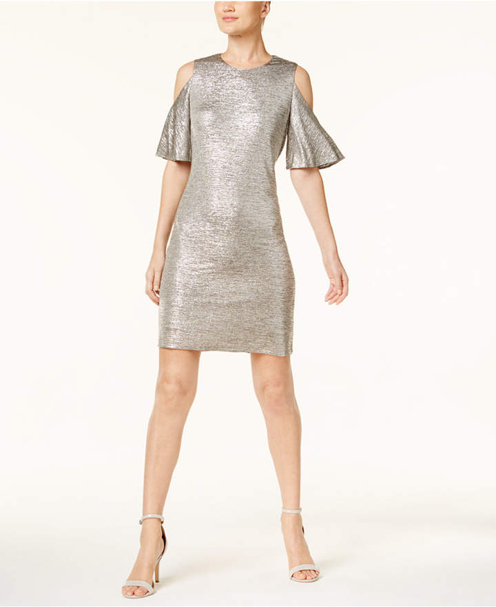 Calvin Klein Cold-Shoulder Dress, A Macy's Exclusive Style