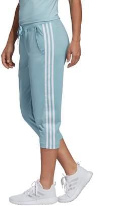 adidas Women's Designed to Move 3-Stripe Midrise Capris