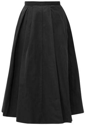 Rochas Polium Full Technical Taffeta Midi Skirt - Womens - Black
