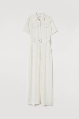 H&M Utility Jumpsuit - White