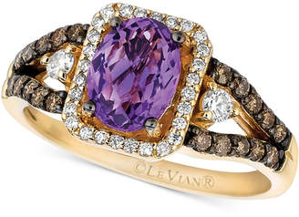 LeVian Le Vian Amethyst (1 ct. t.w.) and Diamond (1/2 ct. t.w.) Ring in 14k Gold
