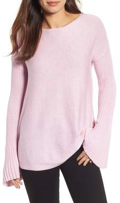 Vince Camuto Bell Sleeve Ribbed Sweater