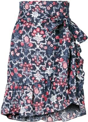 Etoile Isabel Marant floral frill trim wrap skirt