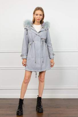 J.ING Georgie 3-in-1 Convertible Blue Grey Parka