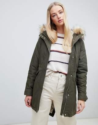New Look Faux Fur Hood Parka