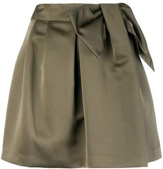 P.A.R.O.S.H. bow detail mini skirt