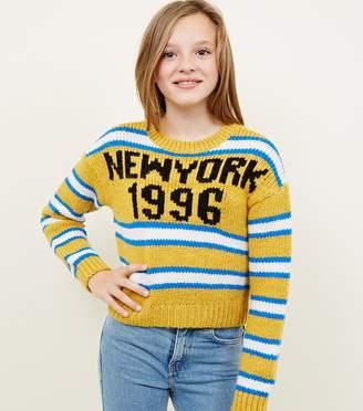 New Look Girls New York Stripe Boxy Jumper