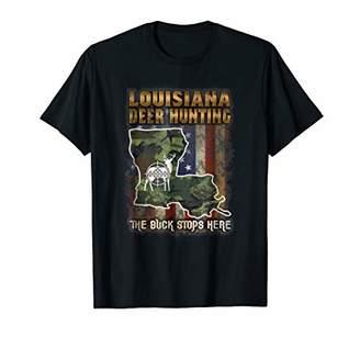 Louisiana Deer Hunting American Flag Deer Hunting T Shirt