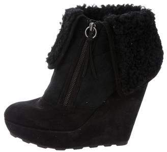 Ash Folk Shearling-Trimmed Booties