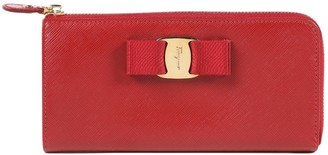 Salvatore Ferragamo Red Leather Wallets