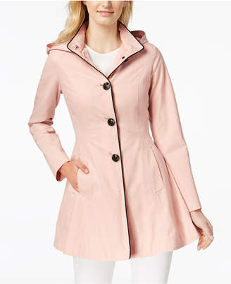 Laundry by Shelli Segal Skirted Back-Bow Trench Coat