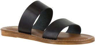 Bella Vita Leather Slide Sandals - Imo