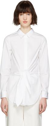 3.1 Phillip Lim White Front Knot Shirt $350 thestylecure.com