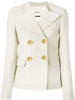 Mulberry double-breasted blazer