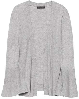 Banana Republic Cashmere Flared-Sleeve Open Cardigan Sweater