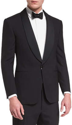 Ralph Lauren Anthony Shawl-Lapel Wool Tuxedo, Black