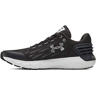 Under Armour Boys' Grade School Charged Rogue Running Shoes, Black/White/Barn 001, 6 (39 EU)