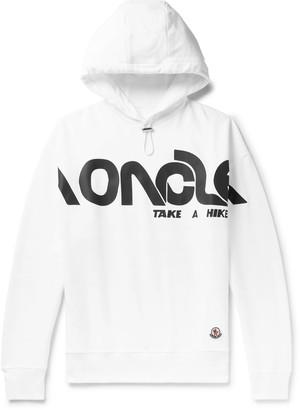 Moncler Genius - 2 1952 Logo-Print Loopback Cotton-Jersey Hoodie - Men - White