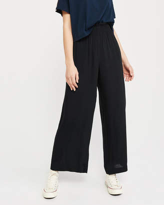 Abercrombie & Fitch Paperbag Waist Wide-Leg Pants