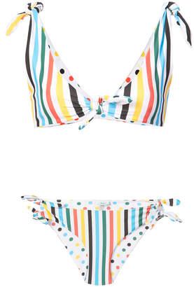 Rye reversible striped polka dot bikini