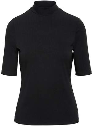 Banana Republic Fitted Mock-Neck T-Shirt