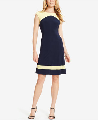American Living Colorblocked Cap-Sleeve Dress $79 thestylecure.com