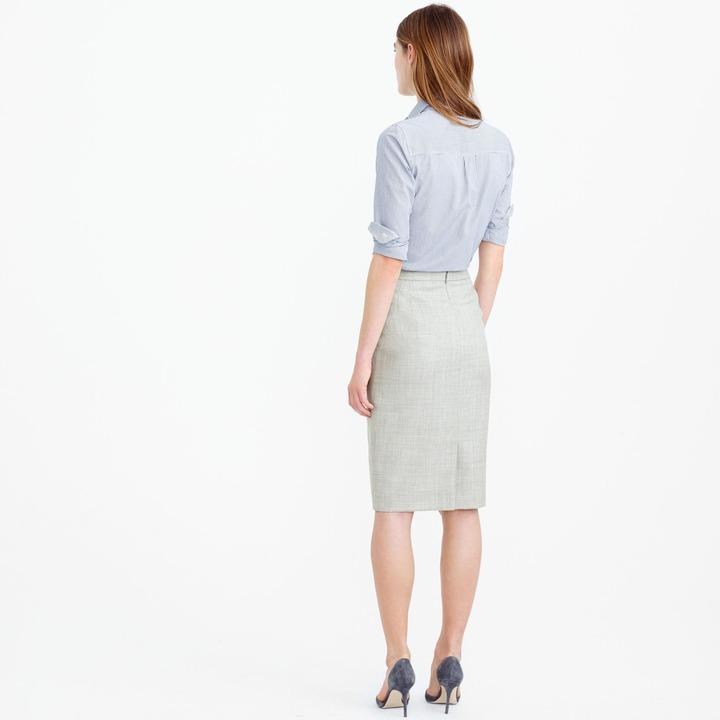 J.Crew Pencil skirt in Super 120s wool