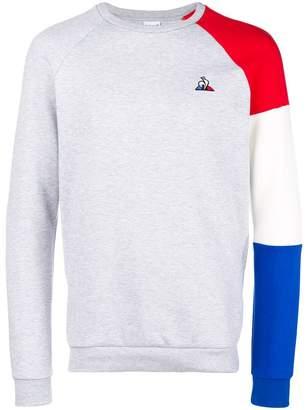Le Coq Sportif colour-block logo sweater