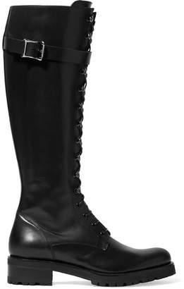 Rupert Sanderson Duncan Buckled Leather Knee Boots - Black