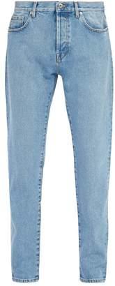 Valentino Mid Rise Slim Leg Jeans - Mens - Light Blue
