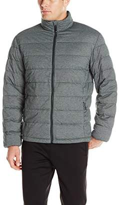 32 Degrees Men's Downproof Heather Jersey Stretch Packable Down Jacket