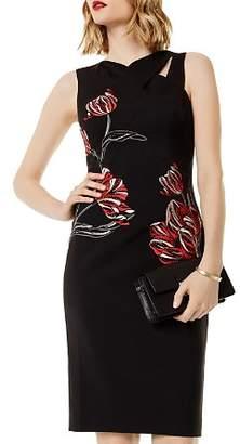 Karen Millen Embroidered Cutout Sheath Dress