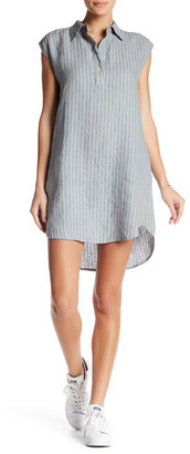 Allen Allen Stripe Linen Dress $128 thestylecure.com