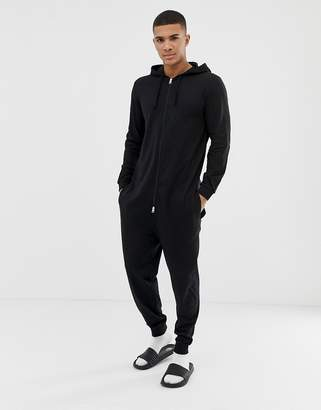 Asos DESIGN onesie in black