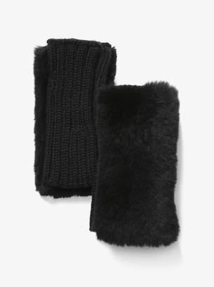 MICHAEL Michael Kors Fur Fingerless Gloves