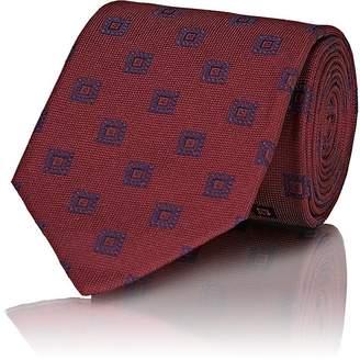 Isaia Men's Square-Pattern Silk Necktie