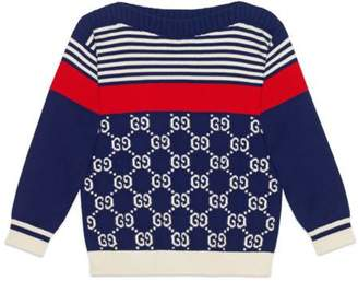 Gucci Children's GG and stripes knit sweater