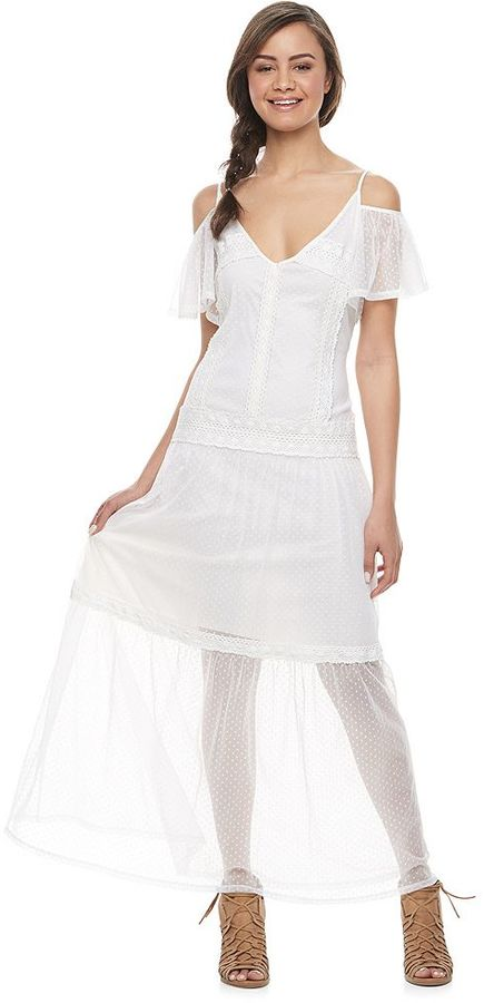 Disney Disney Pirates of the Caribbean: Juniors Collection Sheer Hem Maxi Dress