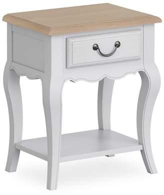 Corndell Light Grey 'Ascot' Single Drawer Bedside Cabinet