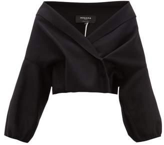 Rochas Shawl Lapel Felted Wool Blend Jacket - Womens - Black