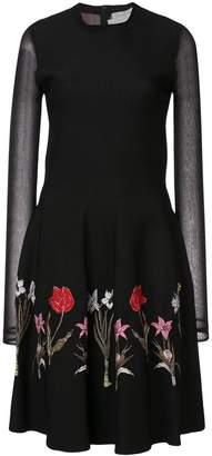 Oscar de la Renta long-sleeve embroidered dress