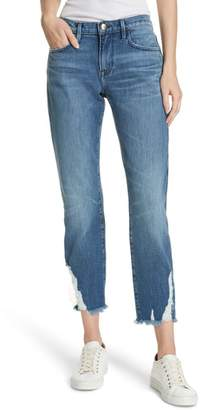 Frame Le Boy Ripped Straight Leg Jeans